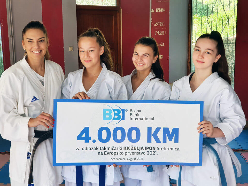 "Karate klub ""Želja Ipon"" Srebrenica na Evropskom prvenstvu uz podršku BBI banke"